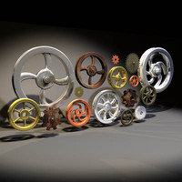 gear pully 01 wheel 3d model