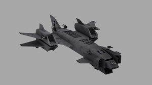 spacecraft spaceship 3d model