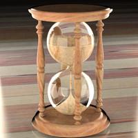 3d hourglass hour glass model
