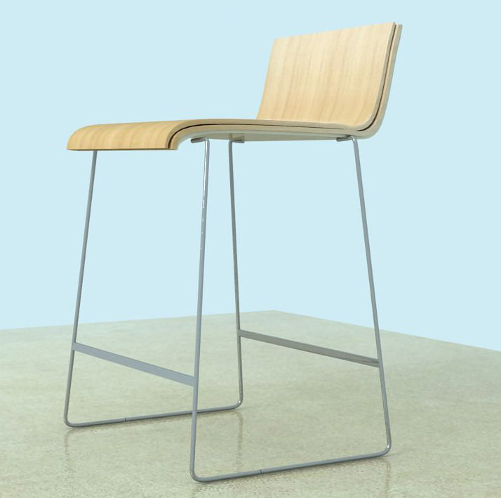 island kitchen chair stool 3d max