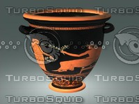 Ancient Red Figure Pottery-Krater