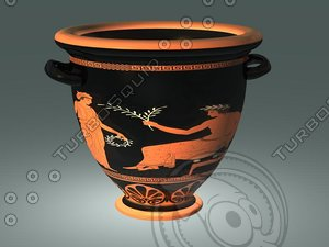 ancient greek red figure 3d model
