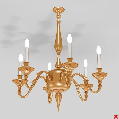 3d chandelier light