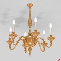 3d chandelier light