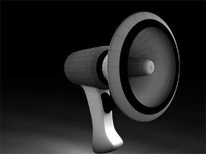 3d c4d megaphone
