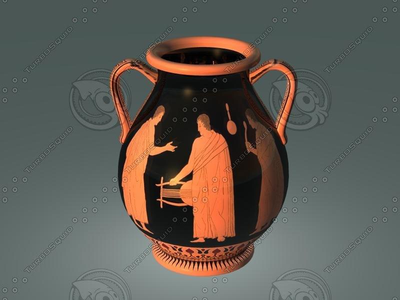 ancient red figure pottery-pelike obj