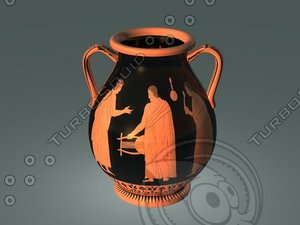 ancient red figure pottery-pelike obj