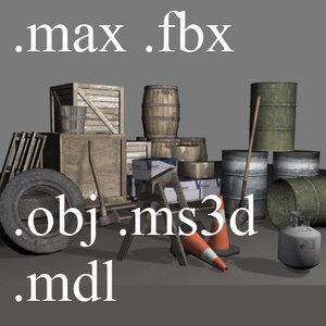 3dsmax 16 games box pallet