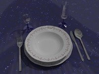 tableware set 3d model