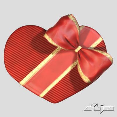 heart gift box 3d max