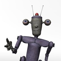 3d robot cartoon character