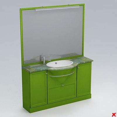 3d model sink basin furniture