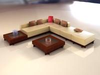 3d sectional sofa model
