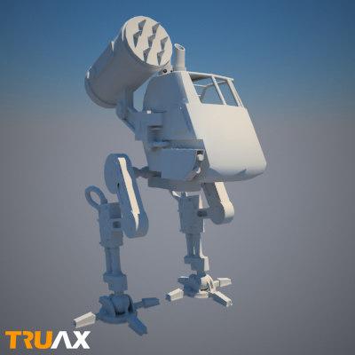 free mech robot 3d model