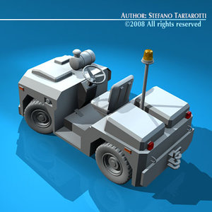 airport tow tractor3 3d model