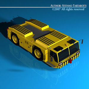 3d 3ds airport tow tractor