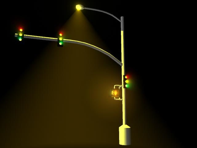 traffic lights 3d ma