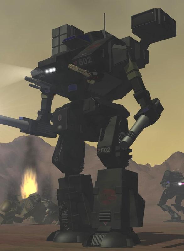 battletech whm-6d battlemech 3d model