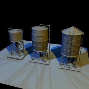 water tank 01 3d max