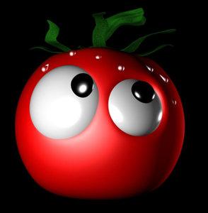 toony tomato 3d model
