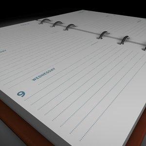 diary memorandum 3ds