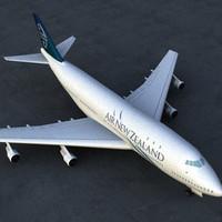 3d model 747 plane air
