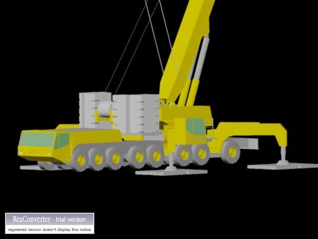 mobile crane demag ac500 3d model