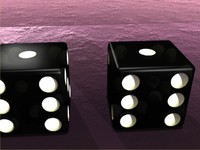 Pair Black Dice