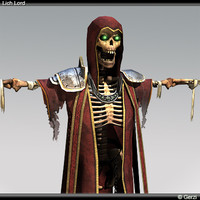 3d lich lord wraith type model