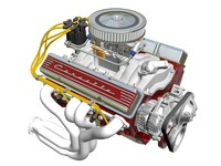 chevrolet small-block v8 engine dxf