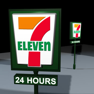 7 Eleven 3D Models for Download | TurboSquid