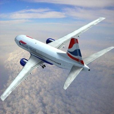 3d 737-700 british airways w model