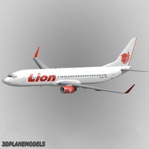 b737-900 lion airlines 737 3d model