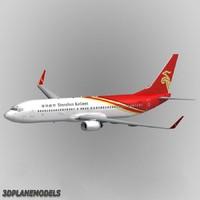 3d b737-900 shenzhen airlines 737