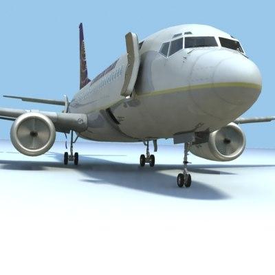 3d model of 737-700 continental