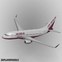 b737-700 air berlin 737 3d 3ds