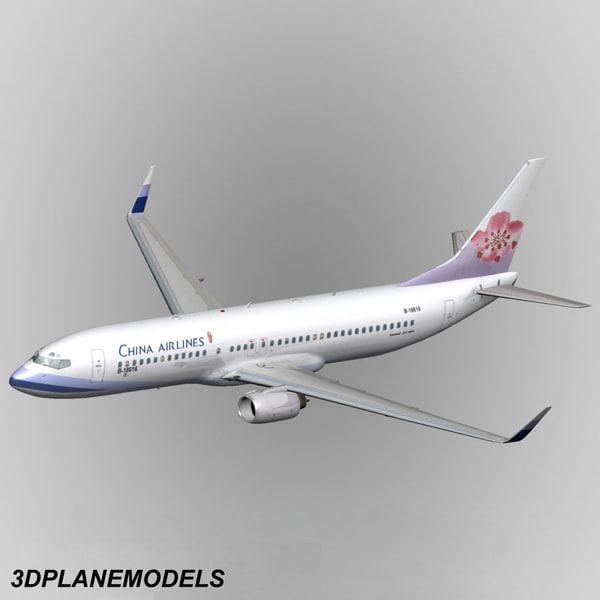max b737-800 china airlines 737
