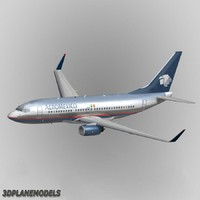 3d model b737-700 aeromexico 737