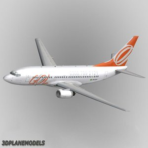 3d model b737-700 gol transportes aereos