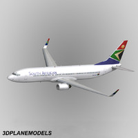 3ds b737-800 south african airways