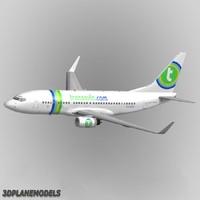 3d b737-700 transavia 737