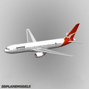 b767-300 qantas 767-300 767 3d model