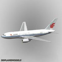b767-200 air china 767-200 3d max