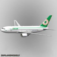 b767-200 eva air 767-200 3d model