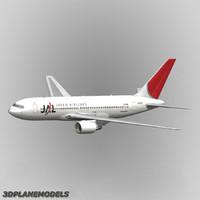 b767-200 japan airlines jal 3d 3ds