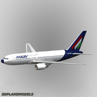 3d max b767-200 malev hungarian airlines