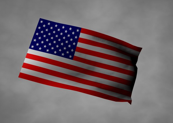 american flag 3ds