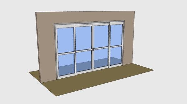 3ds max besam-manual sliding doors besam