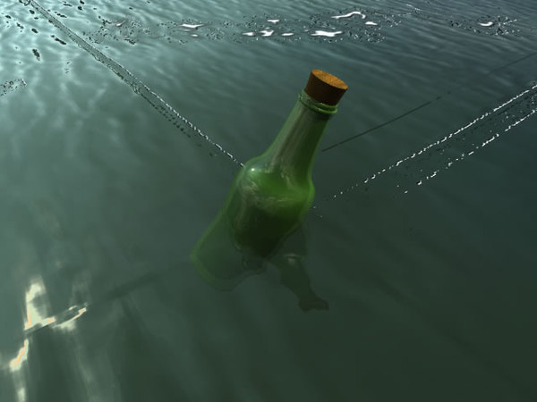 3ds max glass bottle