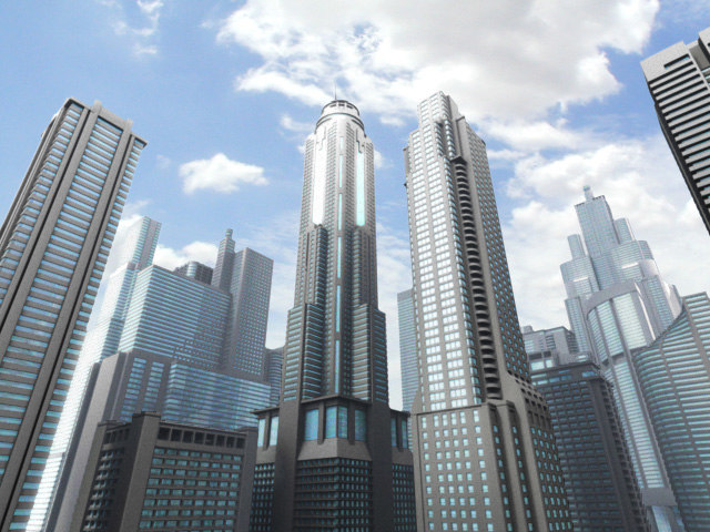 3d model skyscrapers building